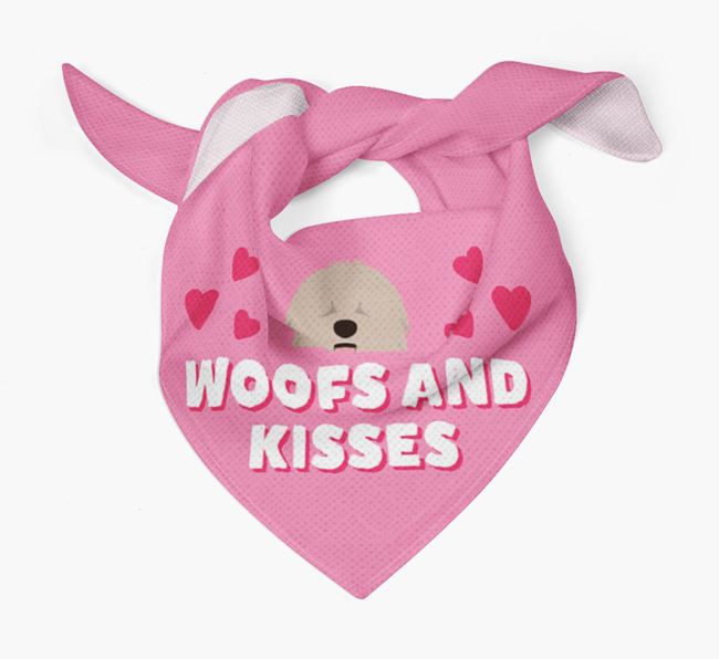 'Woofs and Kisses' - Personalised Komondor Bandana