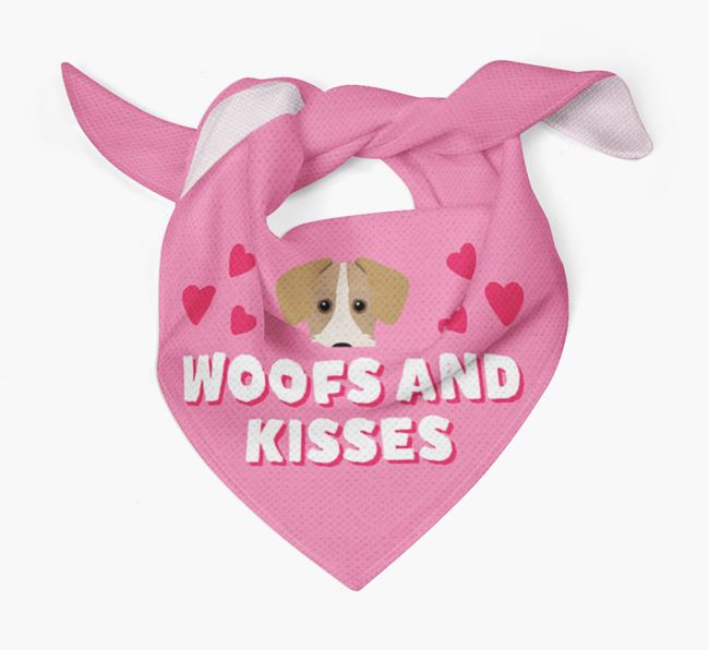 'Woofs and Kisses' - Personalised Miniature Schnoxie Bandana