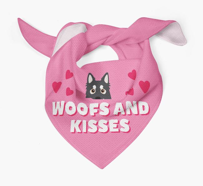 'Woofs and Kisses' - Personalised Northern Inuit Bandana