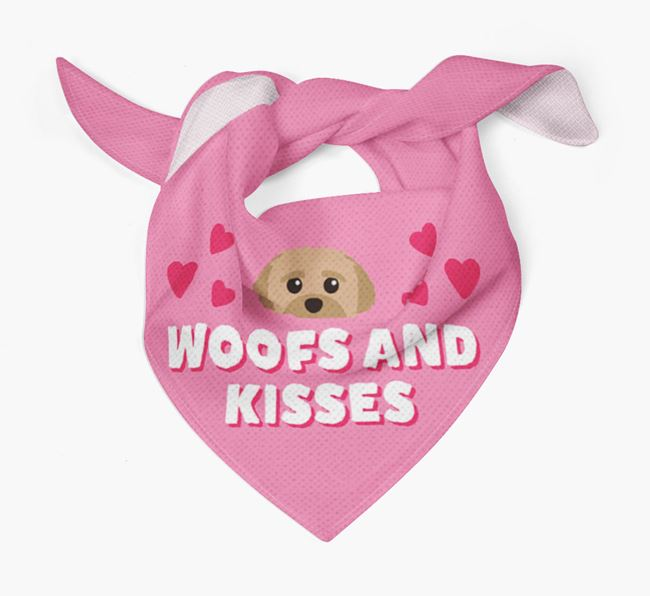 'Woofs and Kisses' - Personalised Peek-a-poo Bandana