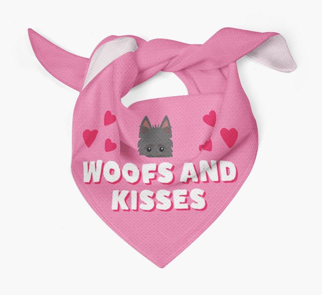 'Woofs and Kisses' - Personalised Scottish Terrier Bandana