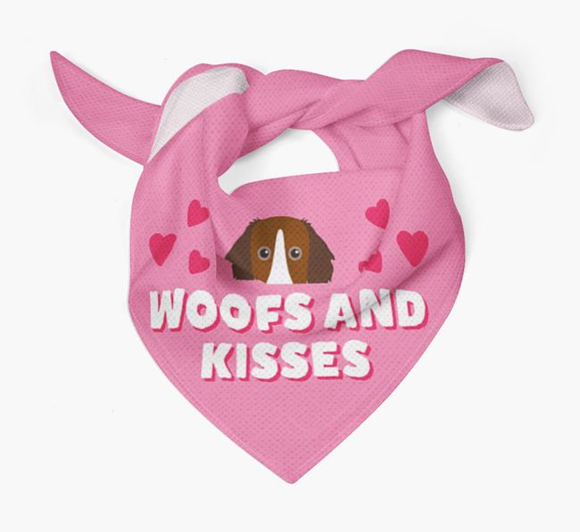 'Woofs and Kisses' - Personalised Sprollie Bandana