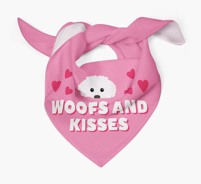 'Woofs and Kisses' - Personalised Westiepoo Bandana