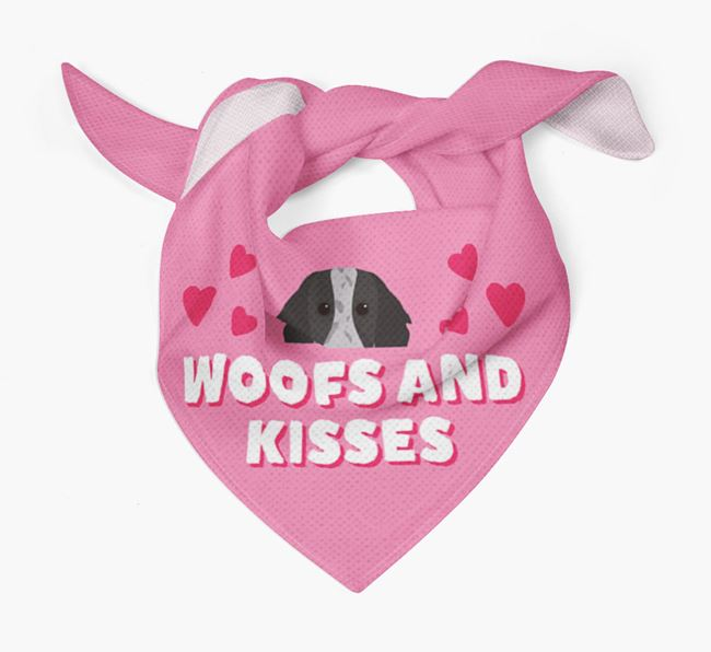 'Woofs and Kisses' - Personalised Working Cocker Spaniel Bandana