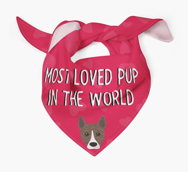 'Most Loved Pup in the World' - Personalised Basenji Bandana