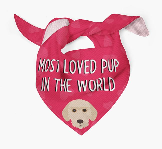 'Most Loved Pup in the World' - Personalised Basset Fauve De Bretagne Bandana