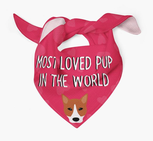 'Most Loved Pup in the World' - Personalised Canaan Dog Bandana