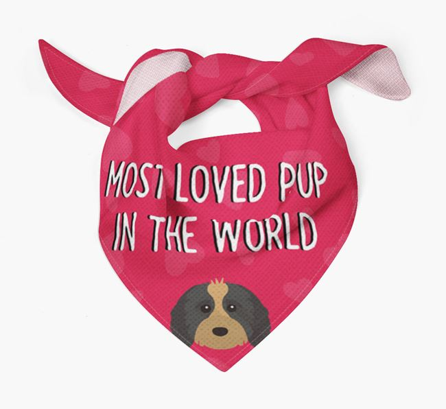 'Most Loved Pup in the World' - Personalised Cavapoo Bandana