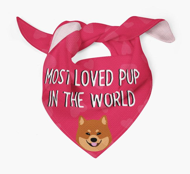 'Most Loved Pup in the World' - Personalised Eurasier Bandana