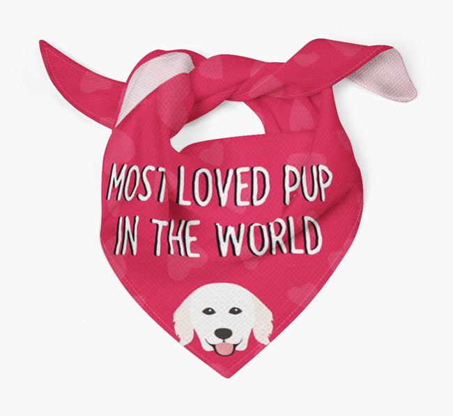 'Most Loved Pup in the World' - Personalised Hungarian Kuvasz Bandana