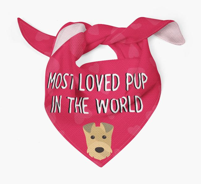 'Most Loved Pup in the World' - Personalised Irish Terrier Bandana