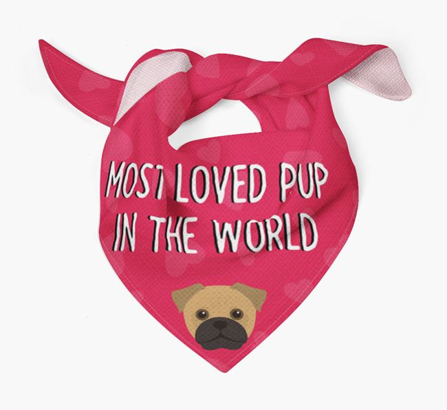 'Most Loved Pup in the World' - Personalised Jug Bandana