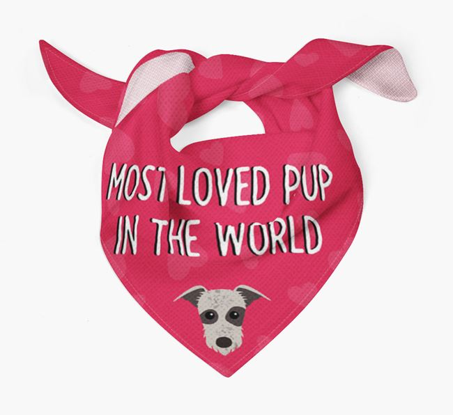 'Most Loved Pup in the World' - Personalised Lurcher Bandana