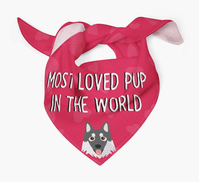 'Most Loved Pup in the World' - Personalised Northern Inuit Bandana