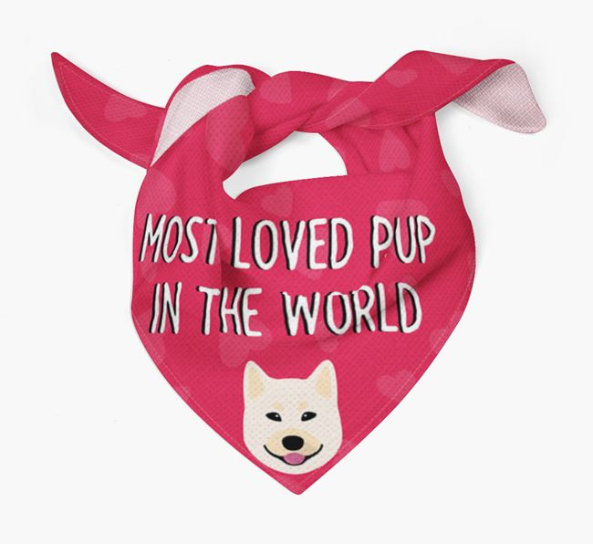 'Most Loved Pup in the World' - Personalised Norwegian Buhund Bandana