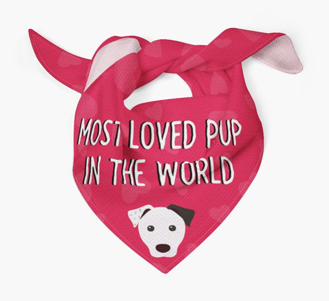 'Most Loved Pup in the World' - Personalised Parson Russell Terrier Bandana