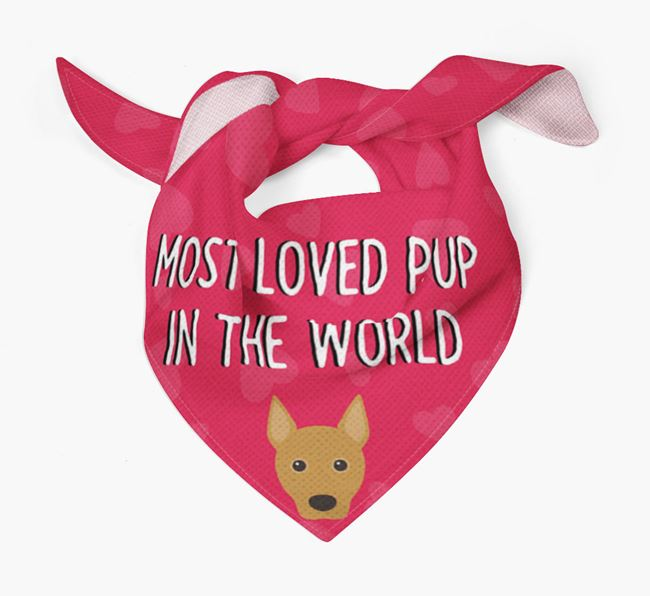 'Most Loved Pup in the World' - Personalised Portuguese Podengo Bandana