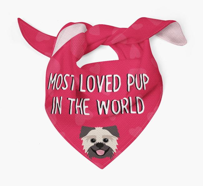 'Most Loved Pup in the World' - Personalised Pugzu Bandana