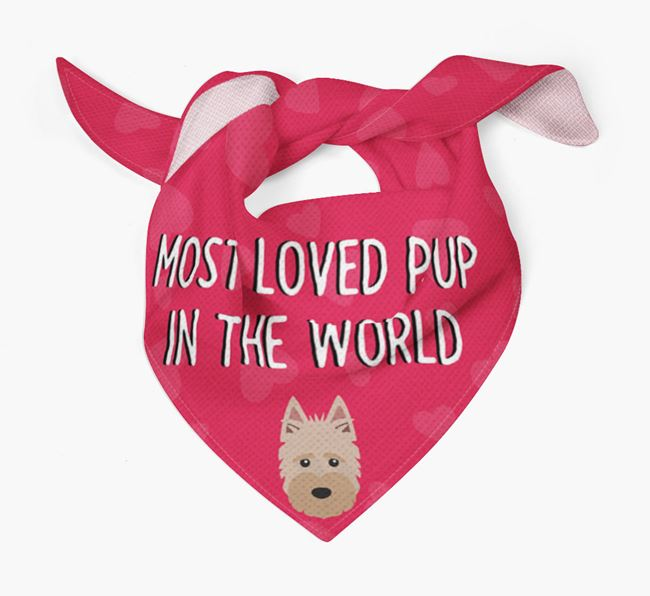 'Most Loved Pup in the World' - Personalised Scottish Terrier Bandana
