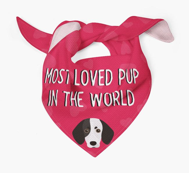 'Most Loved Pup in the World' - Personalised Trailhound Bandana
