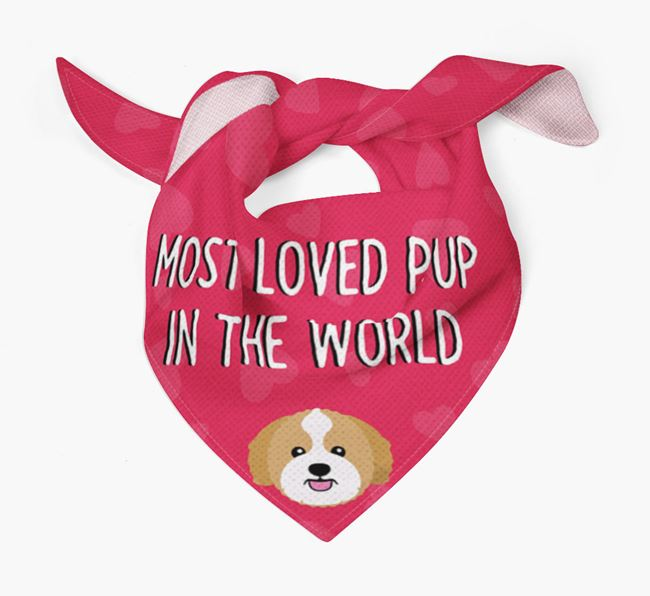 'Most Loved Pup in the World' - Personalised Zuchon Bandana