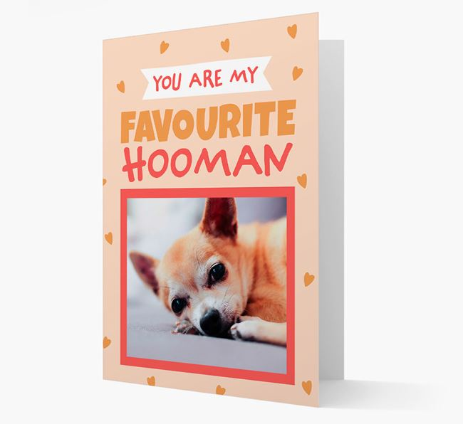 'Favourite Human' - Personalised Chihuahua Card