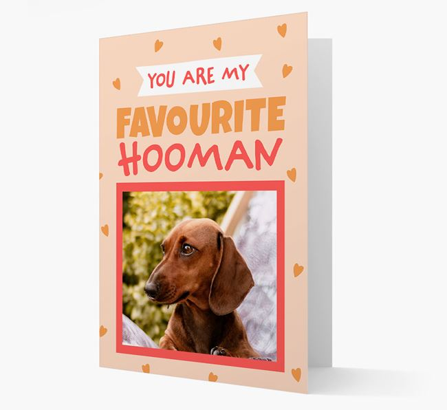 'Favourite Human' - Personalised Dachshund Card