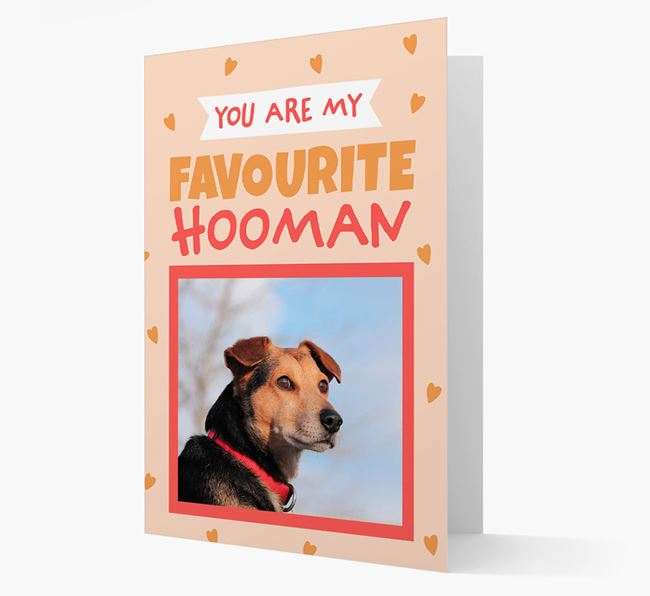 'Favourite Human' - Personalised Golden Labrador Card