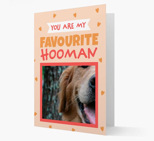 'Favourite Human' - Personalised Golden Retriever Card
