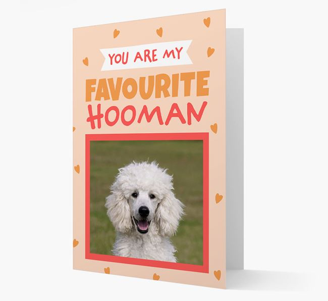 'Favourite Human' - Personalised Poodle Card