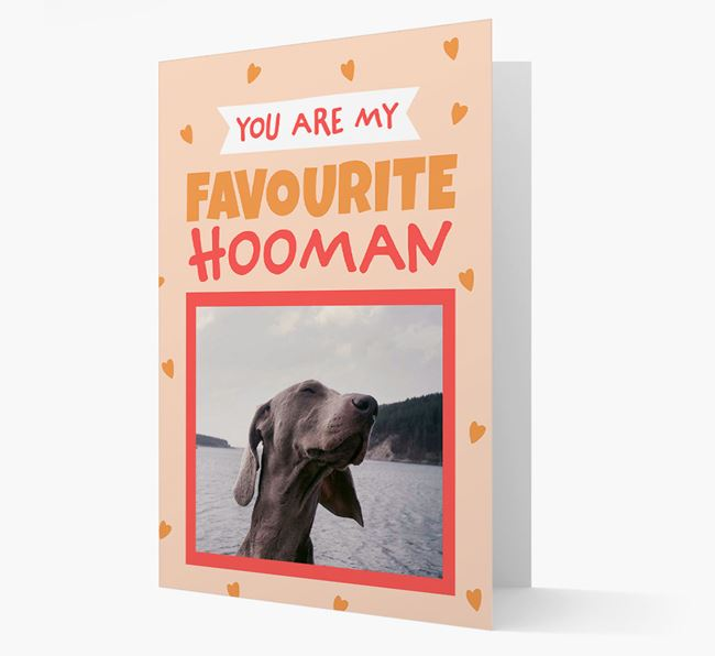 'Favourite Human' - Personalised Dog Card