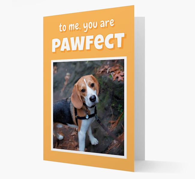'You Are Pawfect' - Personalised Beagle Card