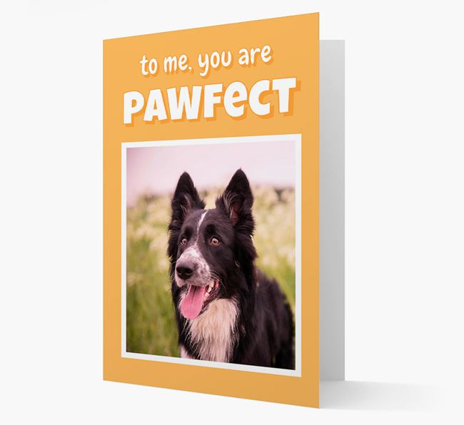 'You Are Pawfect' - Border Collie Photo Upload Card