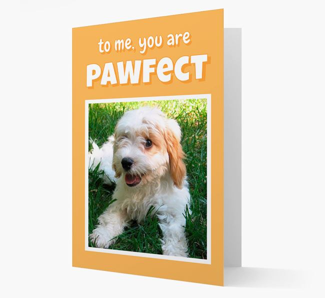 'You Are Pawfect' - Cavachon Photo Upload Card