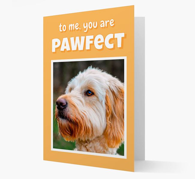 'You Are Pawfect' - Goldendoodle Photo Upload Card