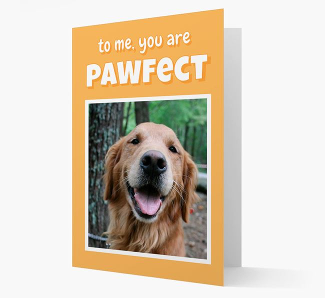 'You Are Pawfect' - Golden Retriever Photo Upload Card