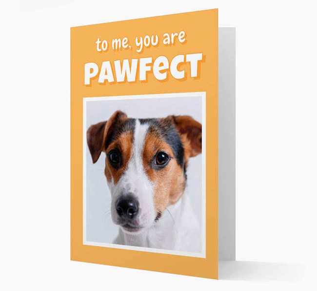 'You Are Pawfect' - Jack Russell Terrier Photo Upload Card