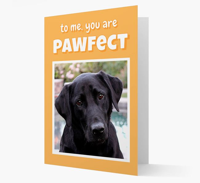 'You Are Pawfect' - Labrador Retriever Photo Upload Card