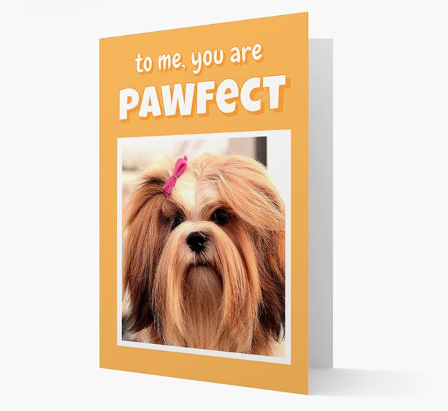 'You Are Pawfect' - Lhasa Apso Photo Upload Card