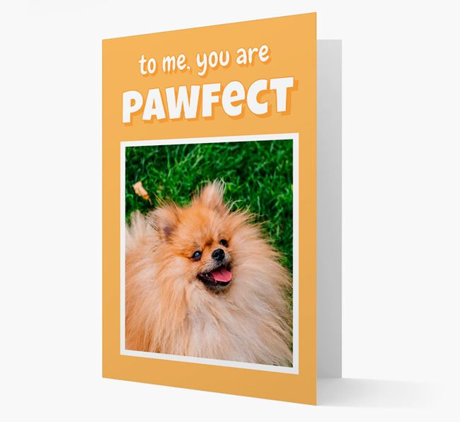 'You Are Pawfect' - Pomeranian Photo Upload Card