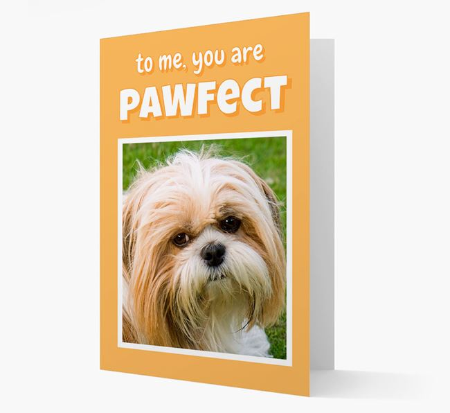 'You Are Pawfect' - Shih Tzu Photo Upload Card