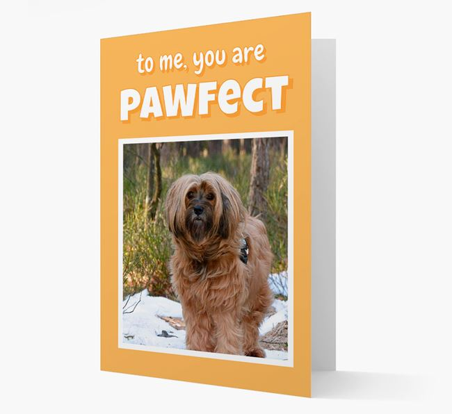 'You Are Pawfect' - Tibetan Terrier Photo Upload Card