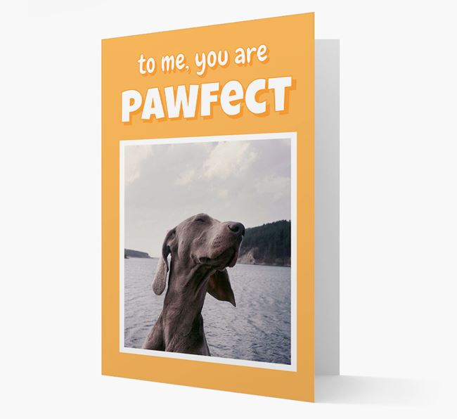 'You Are Pawfect' - Personalised Dog Card