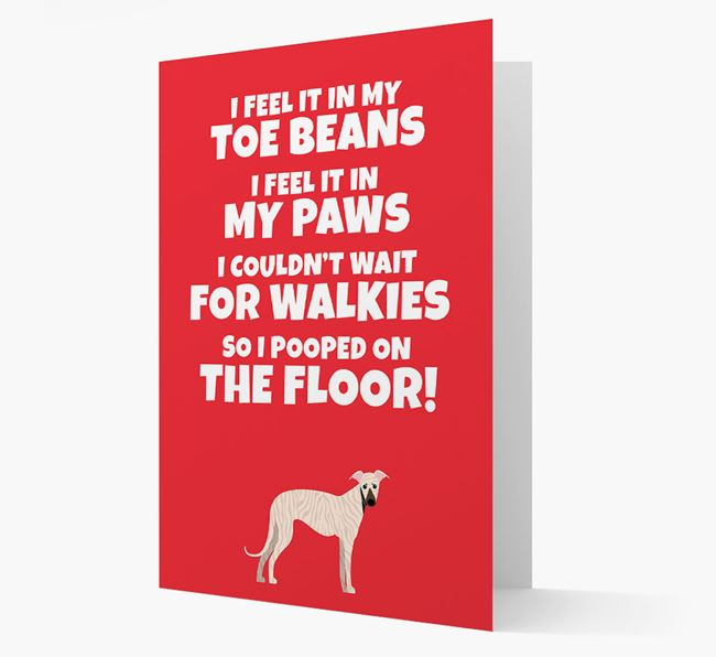 'I feel it in my...' - Personalized Greyhound Card