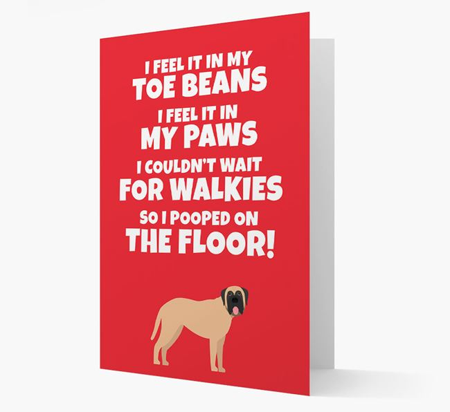 'I feel it in my...' - Personalized Dog Card