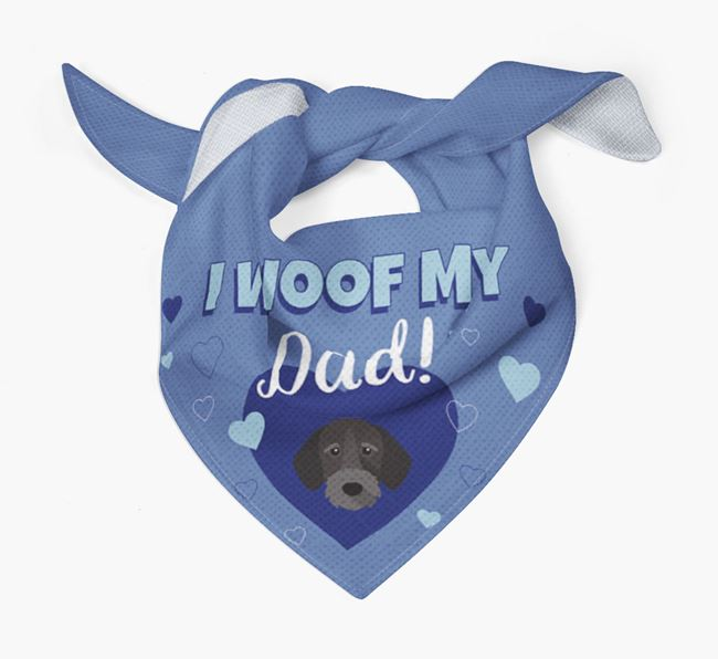 'I Woof My Dad' - Personalised German Wirehaired Pointer Bandana