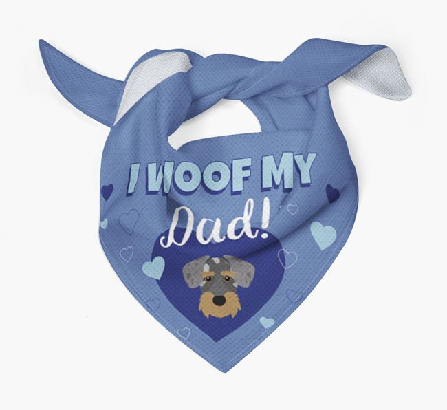 'I Woof My Dad' - Personalised Miniature Schnoxie Bandana