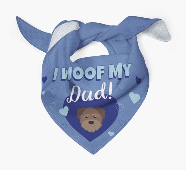 'I Woof My Dad' - Personalized Schnoodle Bandana
