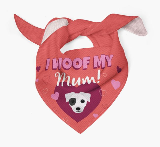 'I Woof My Mum' - Personalised Chi Staffy Bull Bandana