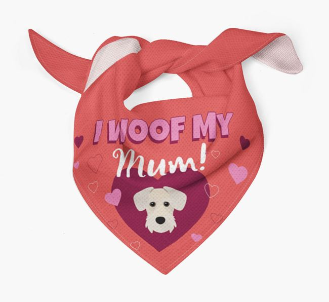 'I Woof My Mum' - Personalised Miniature Schnoxie Bandana